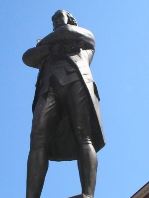 Closeup of Samuel Adams image. Click for full size.