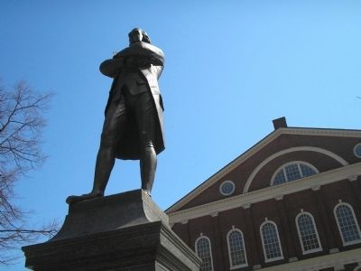 Samuel Adams & Faneuil Hall image. Click for full size.