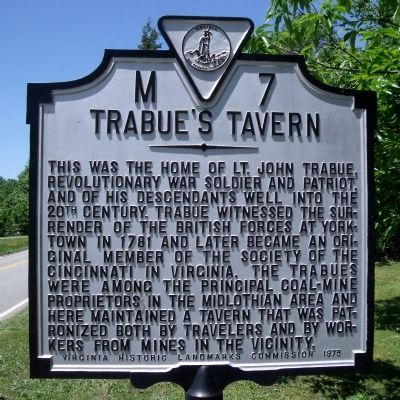 Trabue's Tavern Marker image. Click for full size.