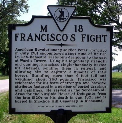 Francisco's Fight Marker image. Click for full size.