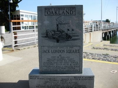 "Front of Pony Express Ferry ""Oakland"" Marker image. Click for full size."