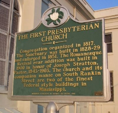 The First Presbyterian Church Marker image. Click for full size.