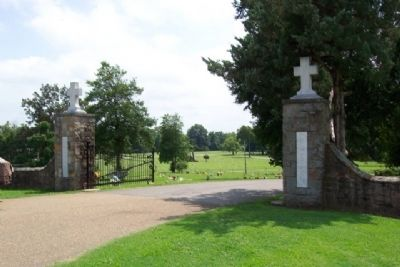 Entrance to Calvary Cemetery image. Click for full size.