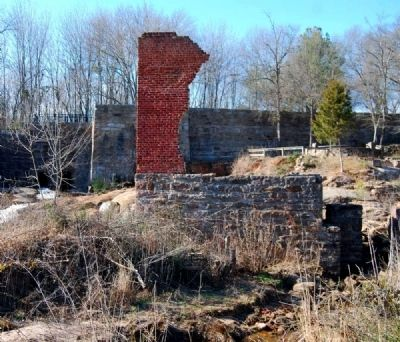 Powerhouse Ruins -<br>Only Portion of the Wall Standing image. Click for full size.