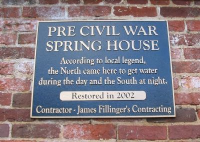Pre Civil War Spring House Marker image. Click for full size.
