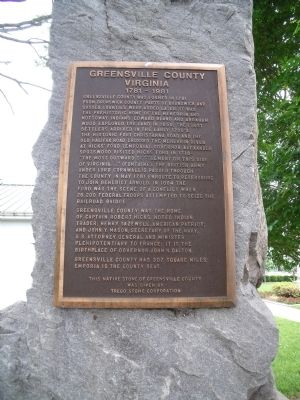 Greensville County Marker image. Click for full size.