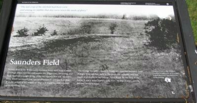 Saunders Field Marker image. Click for full size.