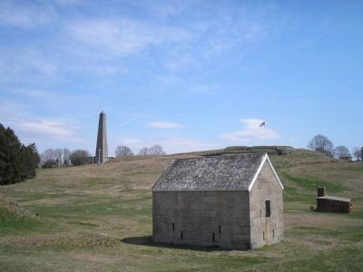 Shot Furnace and Powder Magazine at Fort Griswold image. Click for full size.