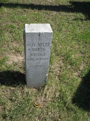 Mileage Marker next to Acton Minutemen Marker image. Click for full size.