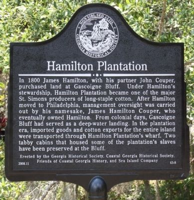 Hamilton Plantation Marker image. Click for full size.