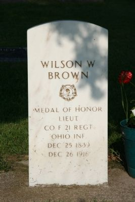Lieut. Wilson W. Brown Gravestone image. Click for full size.