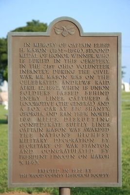 In Memory of Captain Elihu H. Mason Marker image. Click for full size.