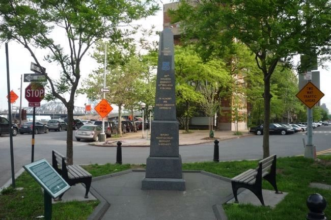 Harlem Hellfighters Monument - viewed from the north image. Click for full size.