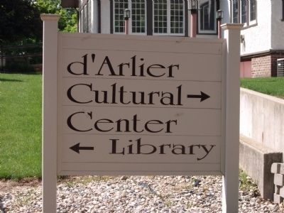 Sign - - Library - and - Booe - Inlow - d'Arlier Cultural Center image. Click for full size.
