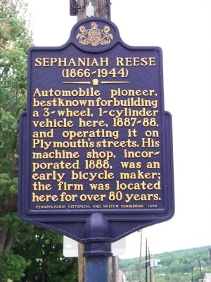 Sephaniah Reese (1866-1944) Marker image. Click for full size.