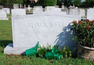 Blackwell Tombstone -<br>Springwood Cemetery, Greenville, SC image. Click for full size.