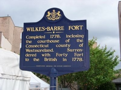 Wilkes-Barre Fort Marker image. Click for full size.