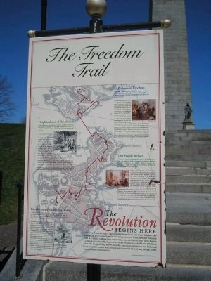 The Freedom Trail Marker image. Click for full size.