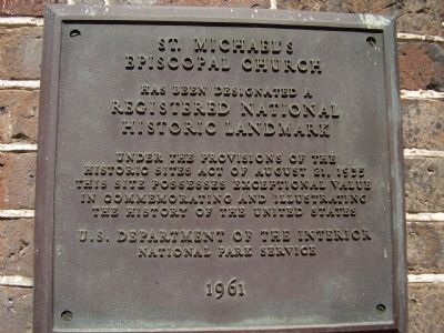 St Michael's Episcopal Church Marker image. Click for full size.
