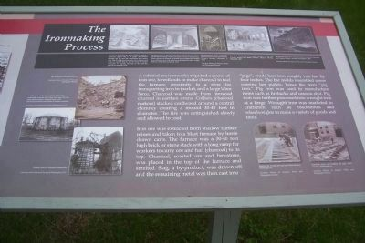 Iron Production: Maryland&#39;s Industrial Past - The Iron Making Process Marker </b>(right side) image. Click for full size.