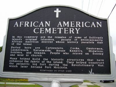 African American Cemetery Marker image. Click for full size.