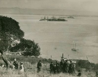 Long Wharf from Goat Island, October, 1886 image. Click for full size.