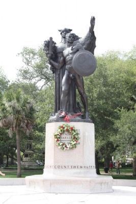 Confederate Defenders of Charleston Marker with Memorial Wreath image. Click for full size.