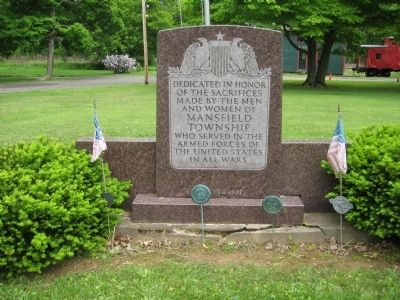 Mansfield Township Veterans Monument image. Click for full size.