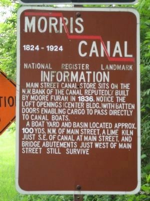 Morris Canal Informational Marker image. Click for full size.