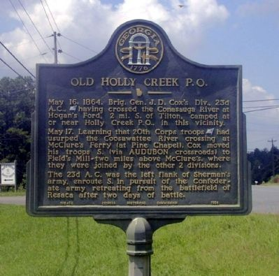 Old Holly Creek P.O. Marker image. Click for full size.