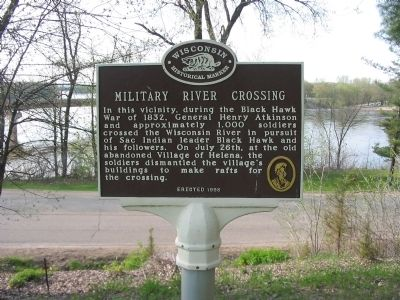 Military River Crossing Marker image. Click for full size.