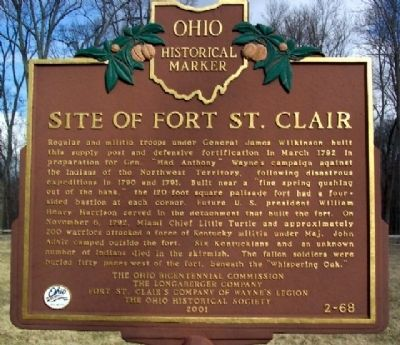 Site of Fort St. Clair Marker image. Click for full size.