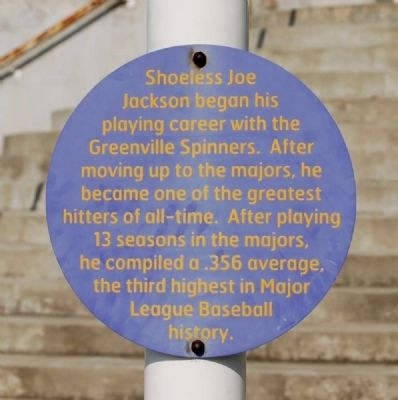 """Shoeless"" Joe Jackson Marker image. Click for full size."