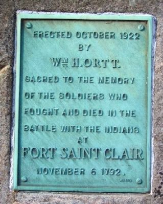 Ortt Fort Saint Clair Memorial Marker image. Click for full size.