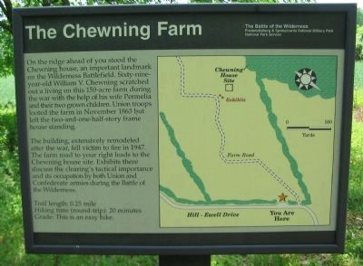 The Chewning Farm Marker image. Click for full size.