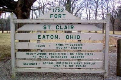 The Fort St. Clair Park Entrance image. Click for full size.