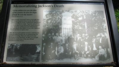 Memorializing Jackson's Death Marker image. Click for full size.