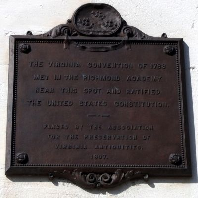 The Virginia Convention of 1788 Marker image. Click for full size.