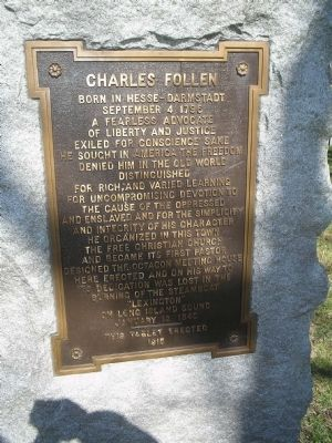 Charles Follen Marker image. Click for full size.