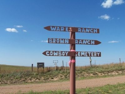 Follow the sign to the Cowboy Cemetery image. Click for full size.