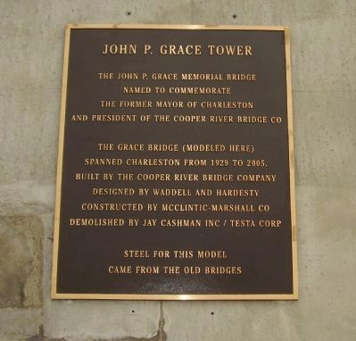 John P. Grace Tower Marker image. Click for full size.