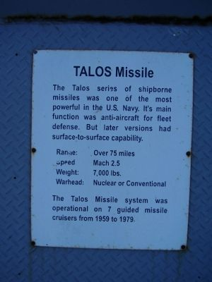 TALOS Missile Marker image. Click for full size.
