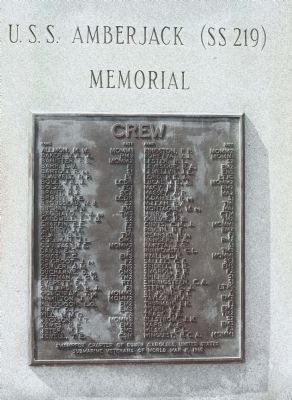 Lower Plaque, Crew of the USS Amberjack image. Click for full size.