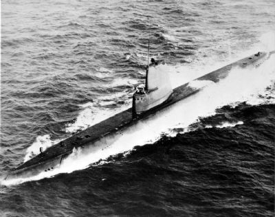 USS Clamagore (SS-343) sometime after her GUPPY conversion, circa post 1948. US Navy image. Click for full size.