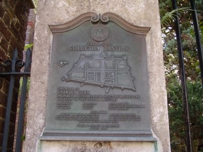 The Site of Colleton Bastion Marker image. Click for full size.