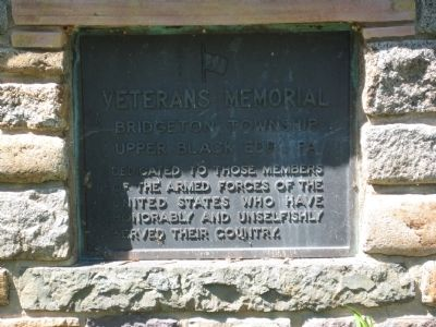 Veterans Memorial, Bridgeton Twp Marker image. Click for full size.