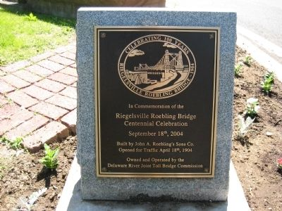Riegelsville Roebling Bridge Marker image. Click for full size.