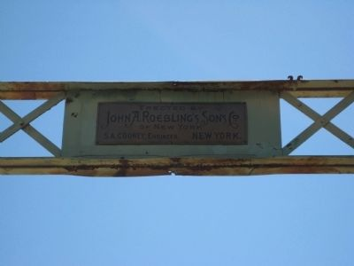 Roebling's Sons Co. Nameplate image. Click for full size.