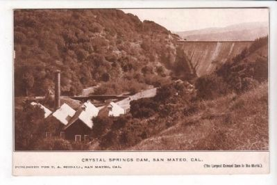 Crystal Springs Dam, San Mateo, California image. Click for full size.