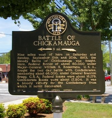 Battle of Chickamauga Marker image. Click for full size.